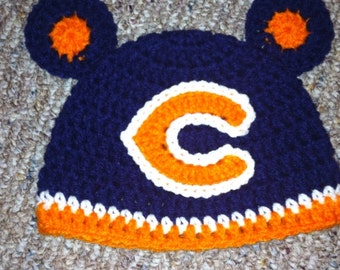SALE!! Crocheted Chicago Bears Inspired Hat