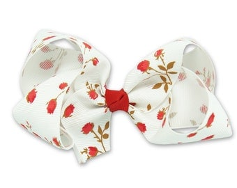 Boutique bow Red, red boutique bow,  big bow, hair clips for kids