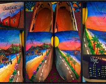 Custom painted City/Vacation Toms. Designed and personalized just for you!
