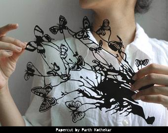 Shipping Free - Papercut - Paper-cut - art - Papercutting - Papercraft - Paperart - Handmade - Handcut - Papercraft - Paper -  illustration
