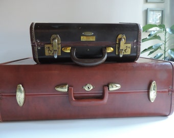 Mid Century Samsonite Suitcase Hard Shell Samsonite Luggage Vintage Large Suitcase