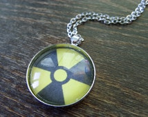 Fallout shelter Fall out radiation fallout jewelry fallout pendant fallout necklace fallout jewelry Post Nuclear Role Playing Game