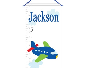 Growth Chart - Personalized Growth Chart - Airplane Growth Chart