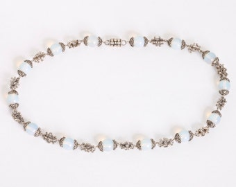 Beads 2 - Necklace - Sterling Silver - Opal