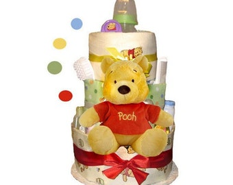Winnie The Pooh Diaper Cake - Baby Shower Centerpiece and Gift - SPECIAL PRICE!