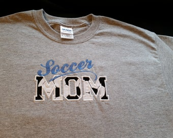 Personalized Applique Soccer Mom T-Shirt