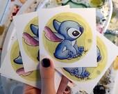 """3x3"""" Stitch Fine Art Quality Mini Print"""