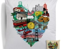 For The Love Of Wales Cushion City Pillow Dragon Welsh Landmark Homewear Icon