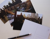 new york city postcards - set of 9