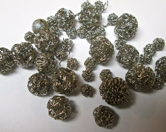 Destash of Vintage Metal Beads  LAST ONE!