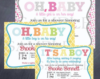 Printable Baby or Adoption Shower Invitation