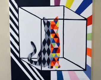 Schrödinger's Cat - Verschränkung - Dead and Alive - Graffiti Art - Spray Paint - Mad Scientist Collection