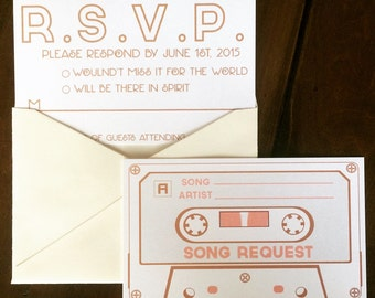 Reply Card//RSVP Card//Song Request RSVP Card