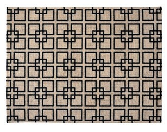 Natural Burlap Placemats Set of 4 - 44x33cm