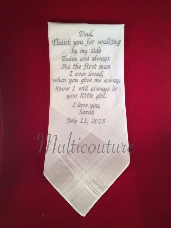 Father Wedding handkerchief