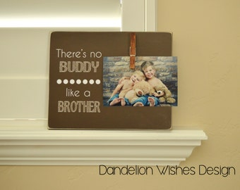 theres no buddy like a brother brothers photo frame new big brother gift nursery decoration gift idea for brothers baby boy gift
