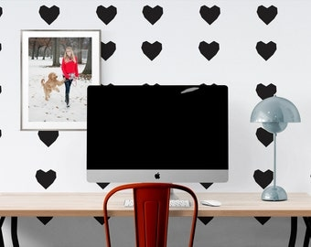 Square hearts wall decal