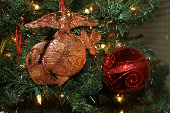 US Marine Corps Wood Ornament marine corps gifts Marine
