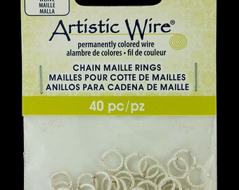"""Artistic Wire Weave Silver Color Jump Ring 5.5mm ID (7/32"""") 18ga (900AWSW-08)"""