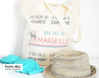 French Tote bag - organic cotton