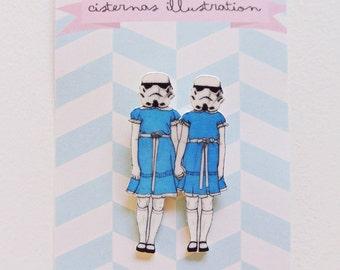 Grady twins stormtrooper brooch