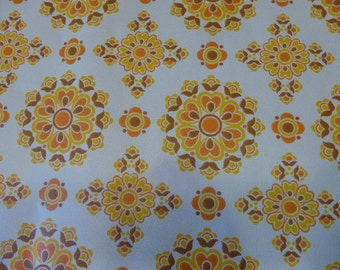 wallpaper, vintage 1970, motives rosaces, orange, original for 1 meter