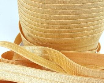 5/8 Gold fold over elastic, FOE for diy hair ties, Wholesale elastic, headband elastic, gold elastic by the yard