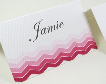 Wedding place cards, Ombre placecards, Pink seat assignments, Wedding seating place cards, Baby Shower place cards