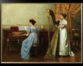 The Duet By George Goodwin Kilburne Counted Cross Stitch Pattern PDF