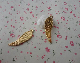 50pcs gold plated Metal Charms-Angel Wings / Eagle Wings charms pendant 30X10mm