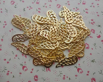 100pcs gold plated Metal Charms-Angel Wings / Eagle Wings charms pendant 24X9mm