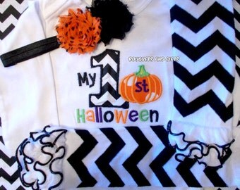 Girl First Halloween Outfit, Baby Girl Halloween Outfit, Girl 1st Halloween Outfit, Girl My First Halloween Outfit
