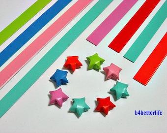 250 strips of DIY Origami Lucky Stars Paper Folding Kit. 26cm x 1.2cm. #C142. (XT Paper Series).