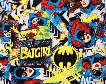 Camelot Super Hero Batgirl Sold by the FAT QUARTER of a METRE