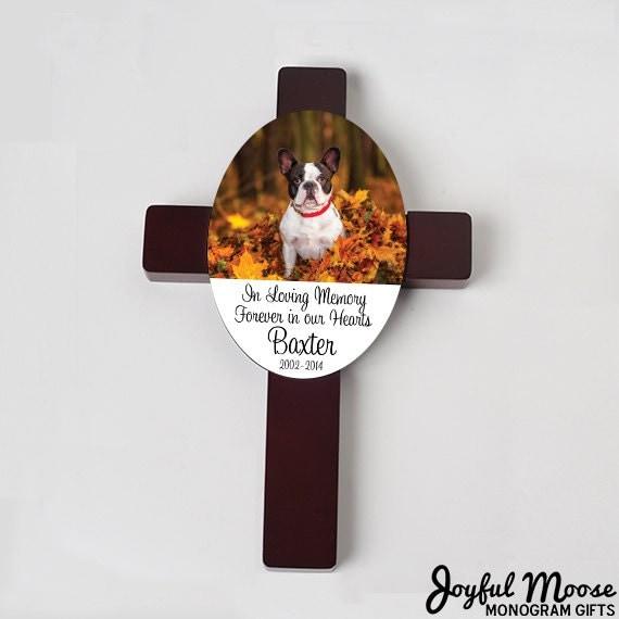 Pet Memorial Cross Custom Dog Memorial Gift Pet By Joyfulmoose