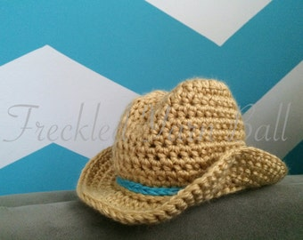 Rootin Tootin Cowboy/Cowgirl Crochet Hat