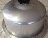 10% OFF SALE Vintage Aluminum Regal Ware Cake Holder/ Cake Carrier
