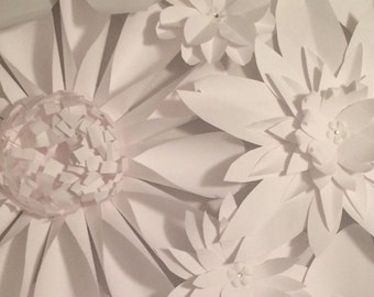 Paper Flower Group - Set of 100 various sizes