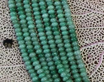8mm Aventurine Large Hole Rondelle Beads