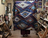 Handmade patchwork blanket, Patchwork quilt, Patchwork Bedding, Modern Quilt, Quilt Bedding