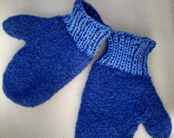 Toddler Wool Felted Mittens