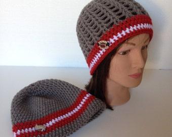Crochet Football Team Beanie