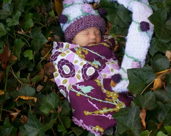 Hand Crocheted Woodland Long Elf Hat - Ready To Ship