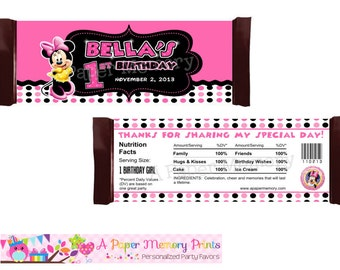 Minnie Mouse Candy Wrapper - DIY Printable