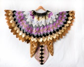 Bird Cape, Lilac Hoopoe Costume, Bird Wings, Kids Costume for Halloween, Carnival, Cos play - made to order in your colours