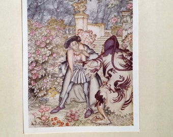 Original bookplate from The Arthur Rackham Fairy Book first printed in 1930s
