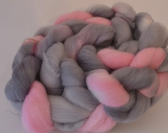 Companion Cube Hand Dyed Top - Spinning or Felting Fiber - Merino - BFL - bamboo