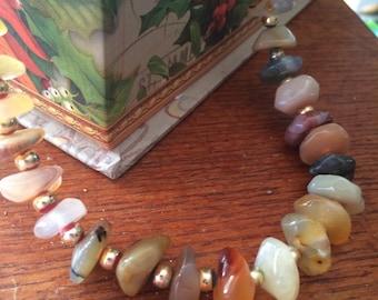 Vintage Polished Stone Necklace