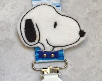 Pacifier Clip - Blue and White - Binky Holder  - Baby Boy Gift