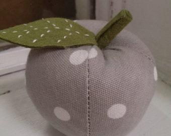 Pin cushion, Polka dot apple pin cushion, craft supplies, handmade gifts, craft gifts, sewing, quilting.